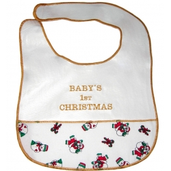 """Baby's First Christmas"" Baby Bib"