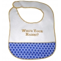 """Who's Your Rabbi?"" Baby Bib"