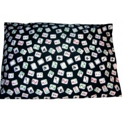 Black Mah Jongg Pillowcase