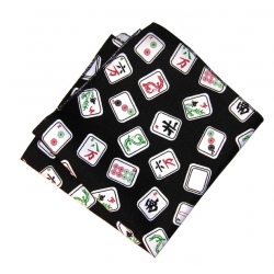 Black Mah Jongg Napkin(only green available )