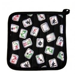 Black Mah Jongg Potholder