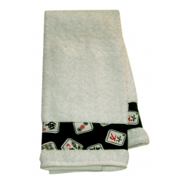 Black Mah Jongg Towel