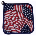 American Flags Pot Holder