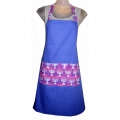 Hanukkah Purple Menorahs Apron