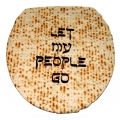 """Let My People Go"" Toilet Lid Cover  Silk-Screened"