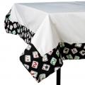 Black Mah Jongg Tablecloth