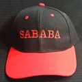 """Sababa"" Hat - Black & Red"