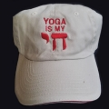 """ Yoga Is My Chai"" White Hat"